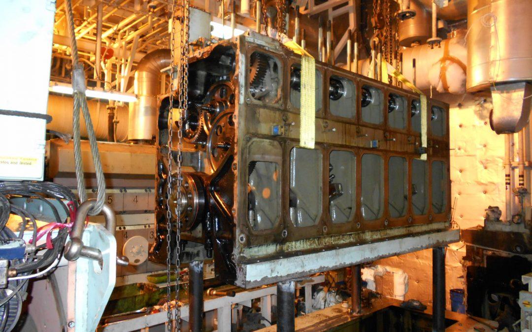 Diesel Generator MAN L16/24 Crankshaft Replacement